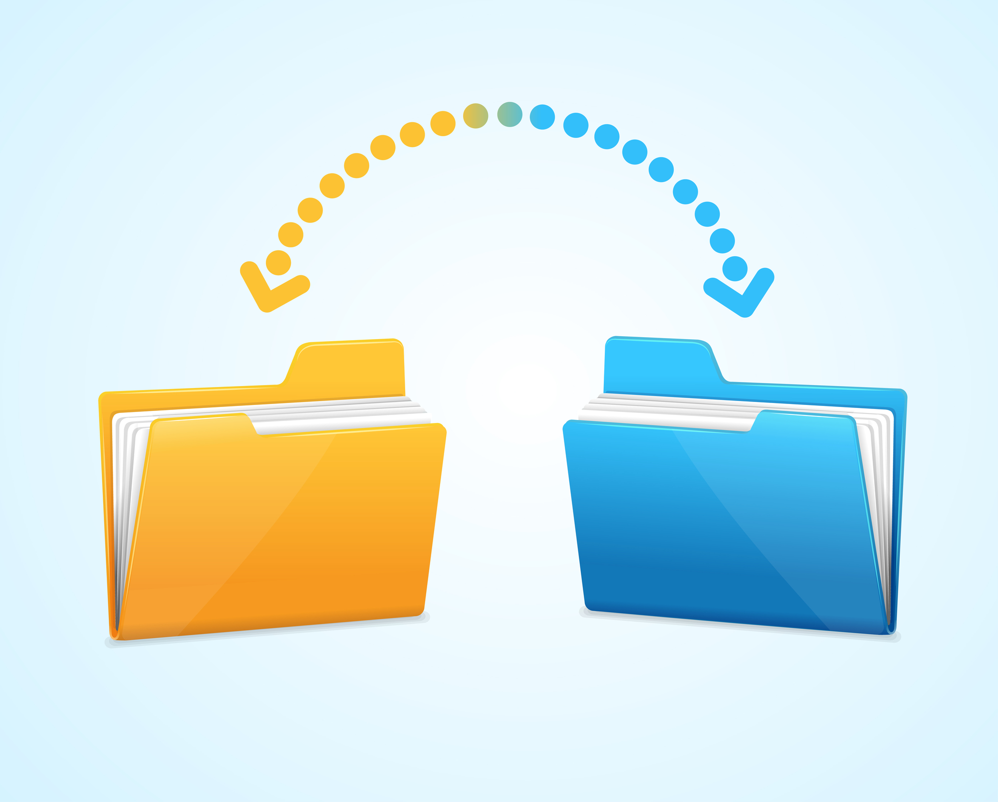 Why is it important to transfer your emails and remove your personal information from your business records?